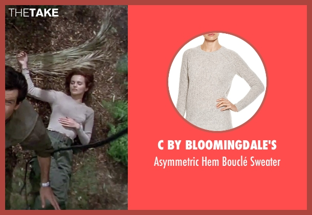 C by Bloomingdale's beige sweater from GoldenEye seen with Izabella Scorupco (Natalya Simonova)