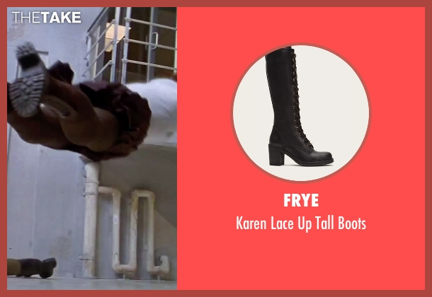 Frye black boots from GoldenEye seen with Izabella Scorupco (Natalya Simonova)