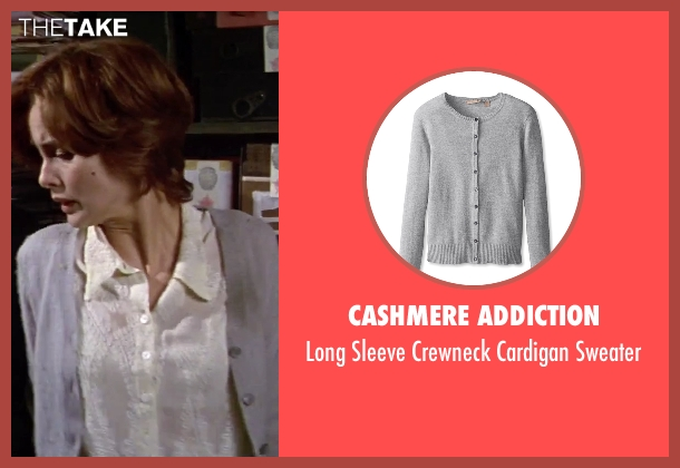 Cashmere Addiction gray sweater from GoldenEye seen with Izabella Scorupco (Natalya Simonova)