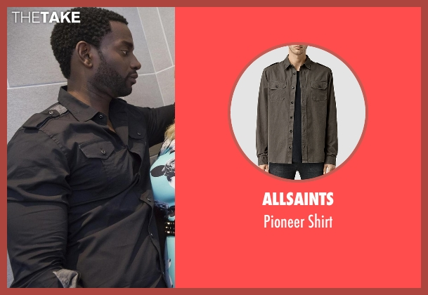 Allsaints gray shirt from Empire seen with J Poppa (Mo McRae)