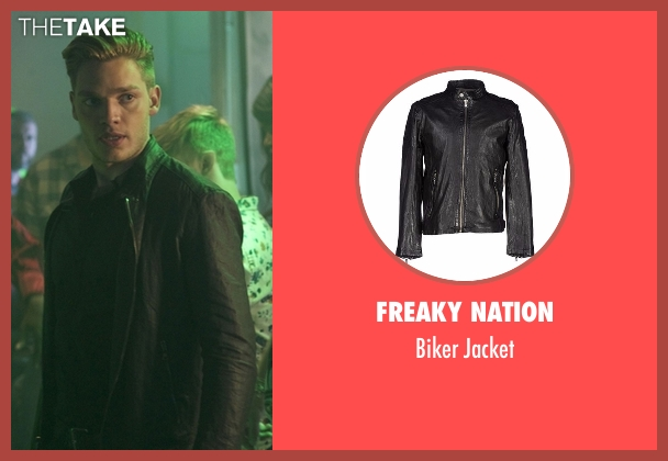 Freaky Nation black jacket from Shadowhunters seen with Jace Wayland (Dominic Sherwood)