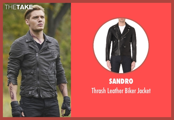 Sandro black jacket from Shadowhunters seen with Jace Wayland (Dominic Sherwood)