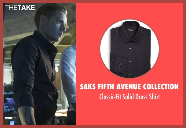 Saks Fifth Avenue Collection black shirt from Shadowhunters seen with Jace Wayland (Dominic Sherwood)