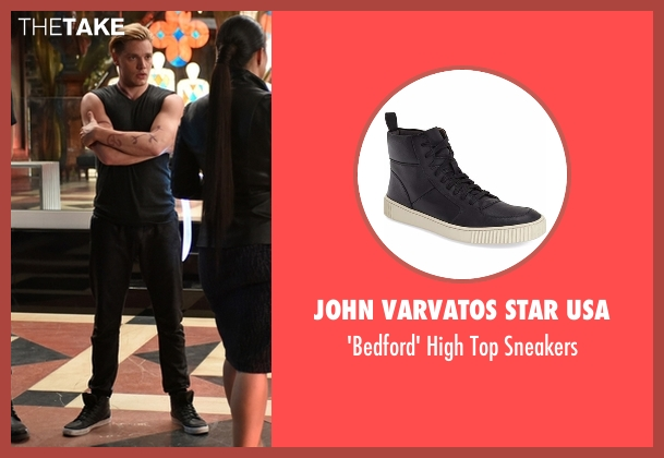 John Varvatos Star USA black sneakers from Shadowhunters seen with Jace Wayland (Dominic Sherwood)