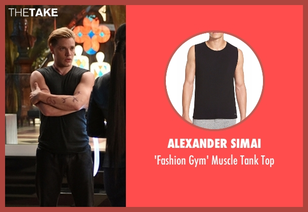 Alexander Simai black top from Shadowhunters seen with Jace Wayland (Dominic Sherwood)