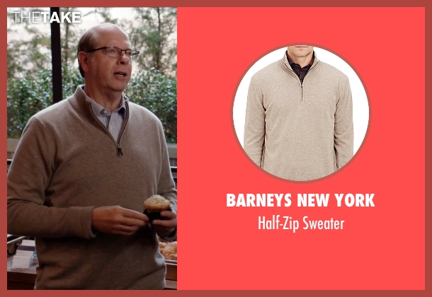 Barneys New York beige sweater from Silicon Valley seen with Jack Barker (Stephen Tobolowsky)