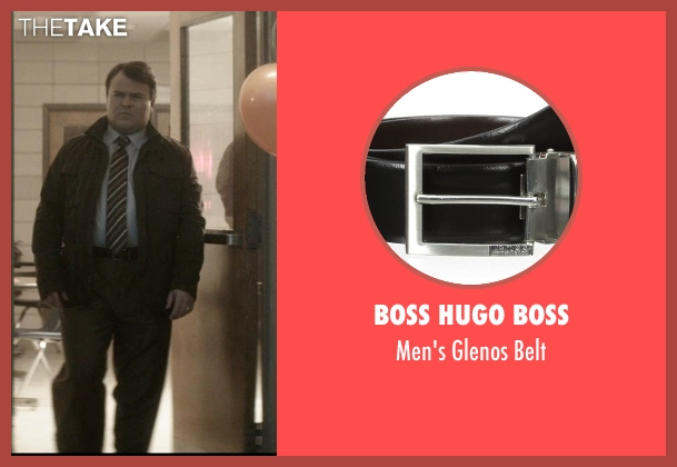 Boss Hugo Boss black belt from The D Train seen with Jack Black (Dan Landsman)