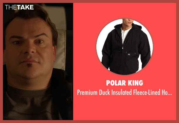 Polar King black jacket from The D Train seen with Jack Black (Dan Landsman)