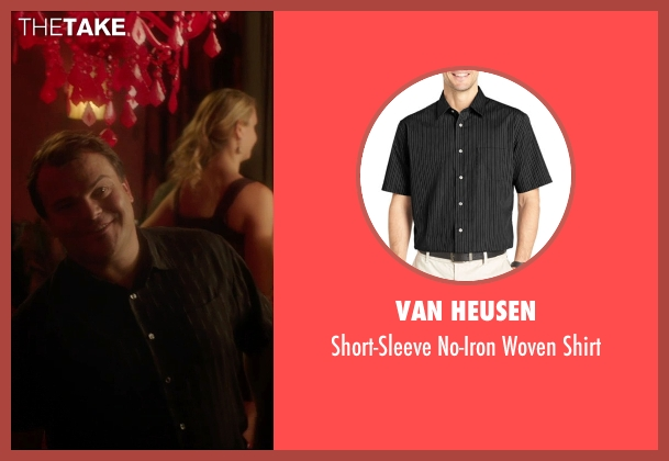 Van Heusen black shirt from The D Train seen with Jack Black (Dan Landsman)