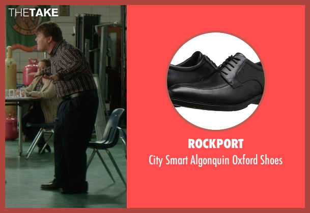 Rockport black shoes from The D Train seen with Jack Black (Dan Landsman)