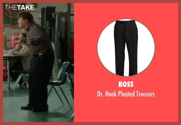 Boss black trousers from The D Train seen with Jack Black (Dan Landsman)