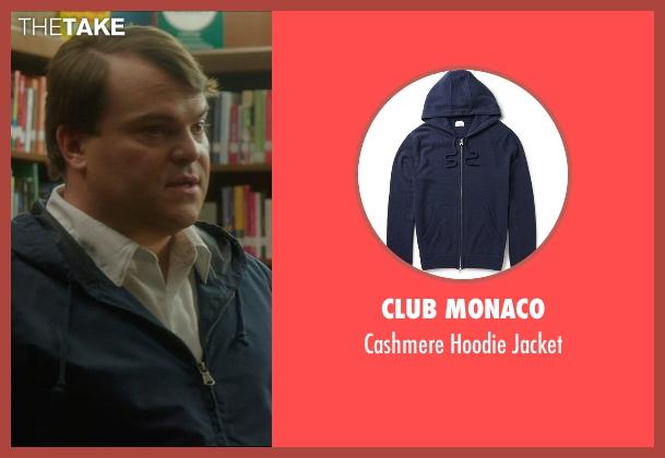 Club Monaco blue jacket from The D Train seen with Jack Black (Dan Landsman)
