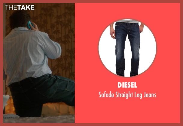 Diesel blue jeans from The D Train seen with Jack Black (Dan Landsman)
