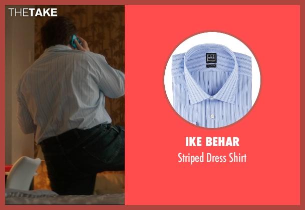 Ike Behar blue shirt from The D Train seen with Jack Black (Dan Landsman)