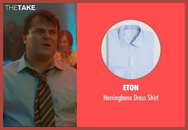 Eton blue shirt from The D Train seen with Jack Black (Dan Landsman)