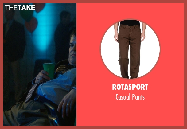 Rotasport brown pants from The D Train seen with Jack Black (Dan Landsman)