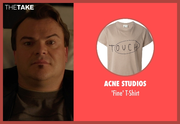 Acne Studios brown t-shirt from The D Train seen with Jack Black (Dan Landsman)