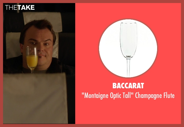Baccarat flute from The D Train seen with Jack Black (Dan Landsman)