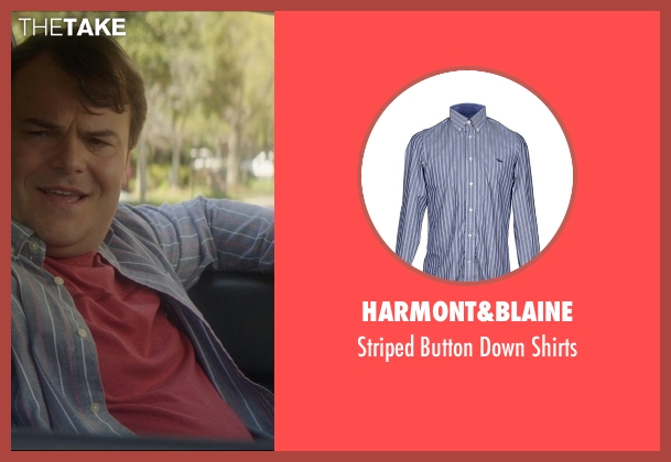 Harmont&Blaine gray shirts from The D Train seen with Jack Black (Dan Landsman)