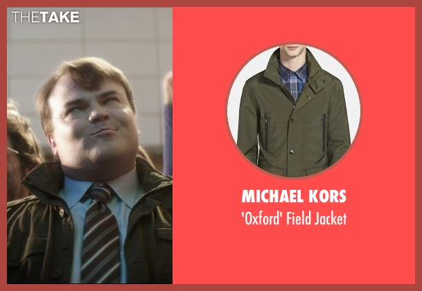 Michael Kors green jacket from The D Train seen with Jack Black (Dan Landsman)