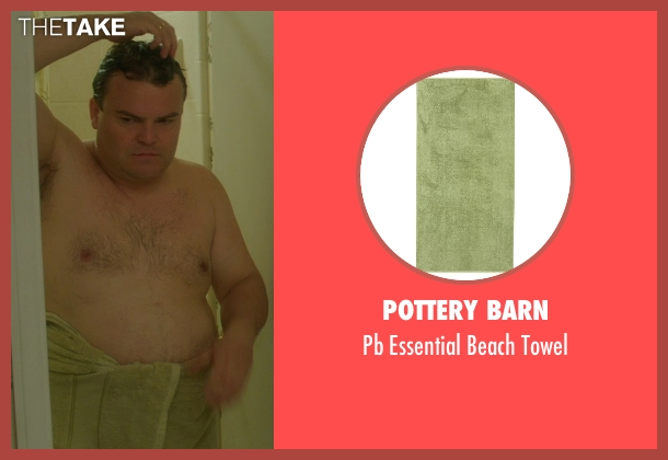 Pottery Barn green towel from The D Train seen with Jack Black (Dan Landsman)