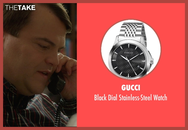 Gucci silver watch from The D Train seen with Jack Black (Dan Landsman)