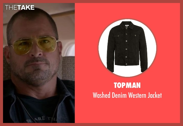 Topman black jacket from MacGyver seen with Jack Dalton (George Eads)