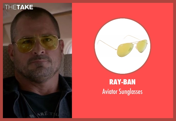 Ray-Ban gold sunglasses from MacGyver seen with Jack Dalton (George Eads)