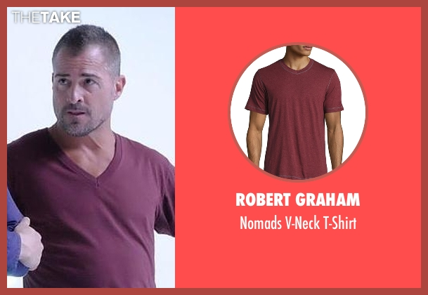 Robert Graham red t-shirt from MacGyver seen with Jack Dalton (George Eads)