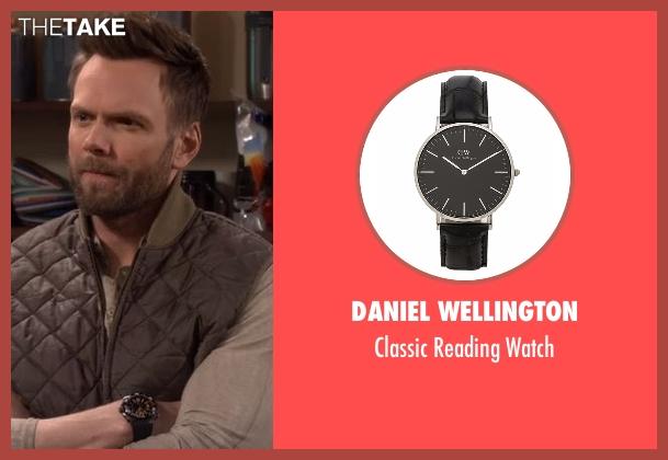 Daniel Wellington black watch from The Great Indoors seen with Jack Gordon (Joel McHale)