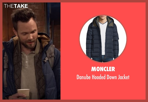 Moncler blue jacket from The Great Indoors seen with Jack Gordon (Joel McHale)