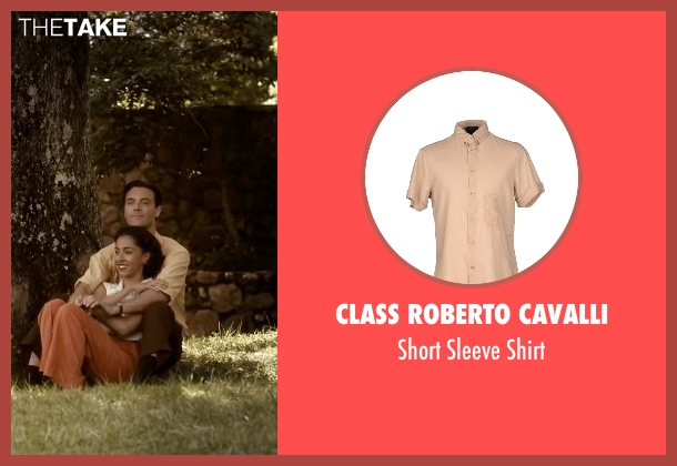 Class Roberto Cavalli beige shirt from The Longest Ride seen with Jack Huston (Ira (Younger))