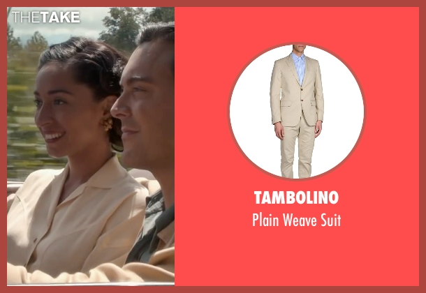 Tambolino beige suit from The Longest Ride seen with Jack Huston (Ira (Younger))