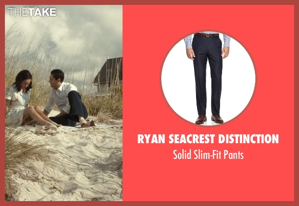 Ryan Seacrest Distinction blue pants from The Longest Ride seen with Jack Huston (Ira (Younger))