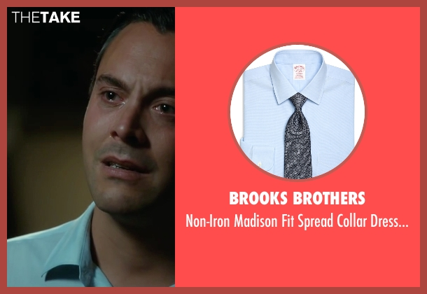 Brooks Brothers blue shirt from The Longest Ride seen with Jack Huston (Ira (Younger))