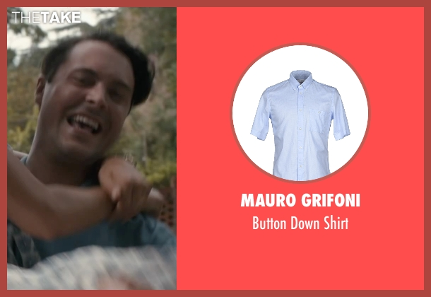 Mauro Grifoni blue shirt from The Longest Ride seen with Jack Huston (Ira (Younger))
