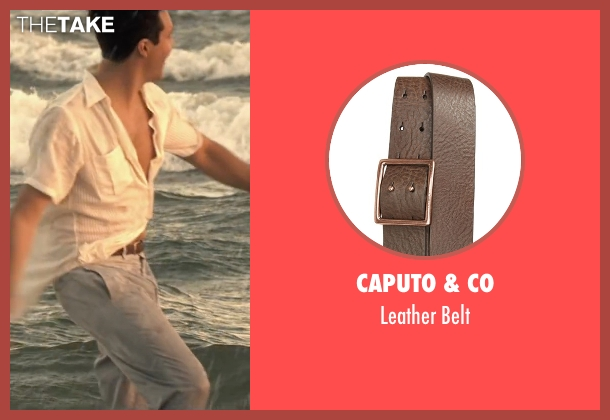 Caputo & Co brown belt from The Longest Ride seen with Jack Huston (Ira (Younger))