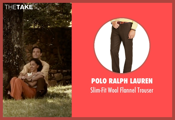 Polo Ralph Lauren brown trouser from The Longest Ride seen with Jack Huston (Ira (Younger))