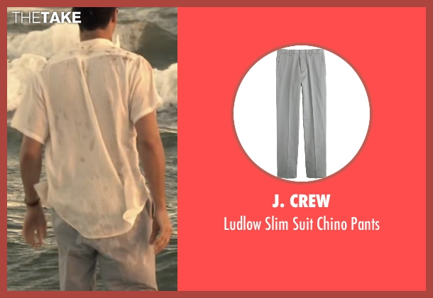 J. Crew gray pants from The Longest Ride seen with Jack Huston (Ira (Younger))