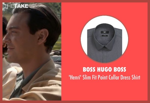 Boss Hugo Boss gray shirt from The Longest Ride seen with Jack Huston (Ira (Younger))