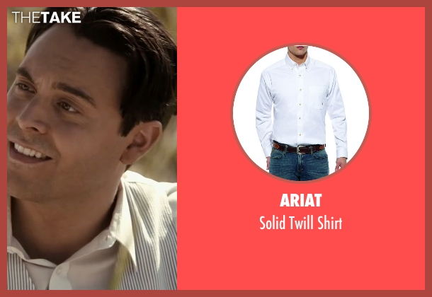 Ariat white shirt from The Longest Ride seen with Jack Huston (Ira (Younger))