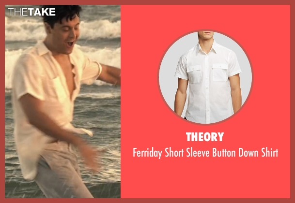 Theory white shirt from The Longest Ride seen with Jack Huston (Ira (Younger))