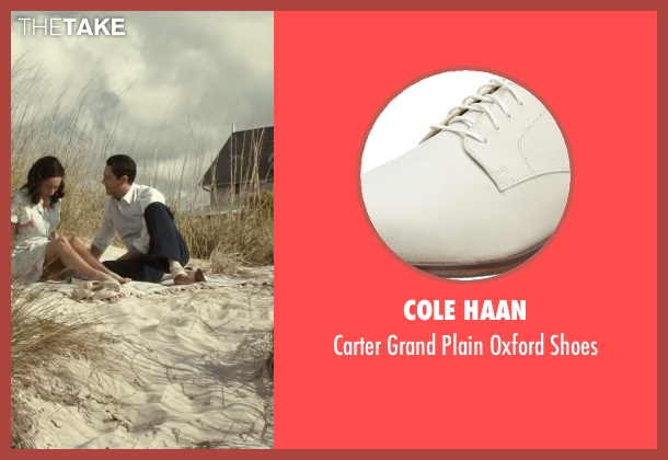 Cole Haan white shoes from The Longest Ride seen with Jack Huston (Ira (Younger))