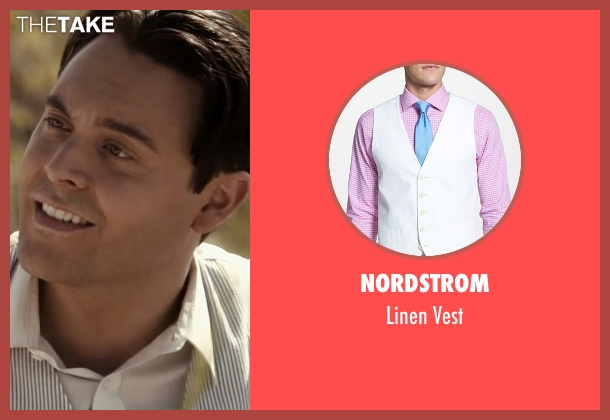 Nordstrom white vest from The Longest Ride seen with Jack Huston (Ira (Younger))