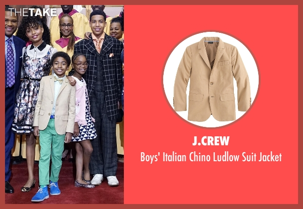 J.Crew beige jacket from Black-ish seen with Jack Johnson (Miles Brown)