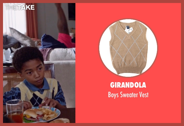 Girandola beige vest from Black-ish seen with Jack Johnson (Miles Brown)