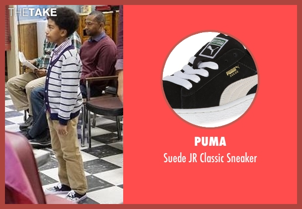 Puma black sneaker from Black-ish seen with Jack Johnson (Miles Brown)