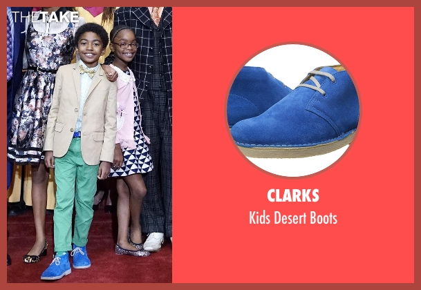 Clarks blue boots from Black-ish seen with Jack Johnson (Miles Brown)