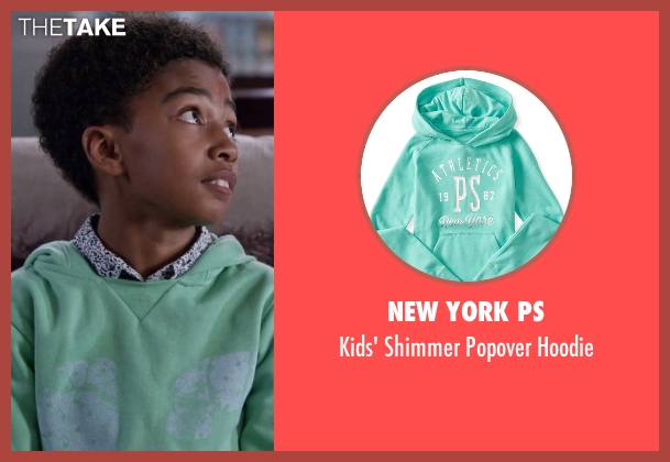 New York PS blue hoodie from Black-ish seen with Jack Johnson (Miles Brown)