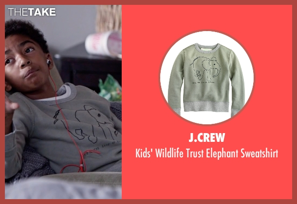 J.Crew gray sweatshirt from Black-ish seen with Jack Johnson (Miles Brown)